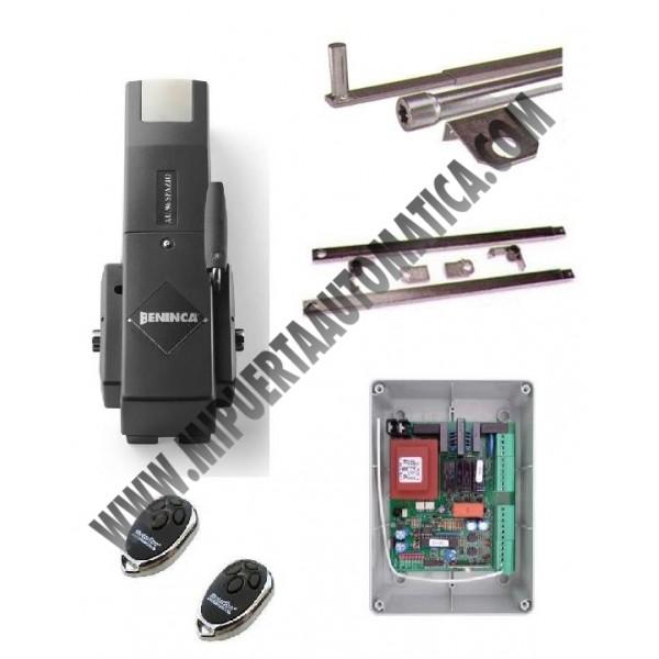 Puertas basculantes contrapesas motor beninca au96 for Motor puerta automatica