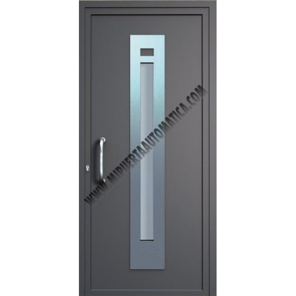 Puerta acorazada para casas puerta de entrada principal for Puertas de acero inoxidable