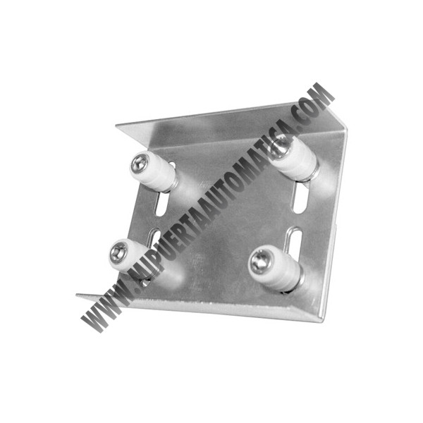 Rodillo soporte de 4 rodamientos para puerta corredera 40 - Accesorios para puertas correderas ...