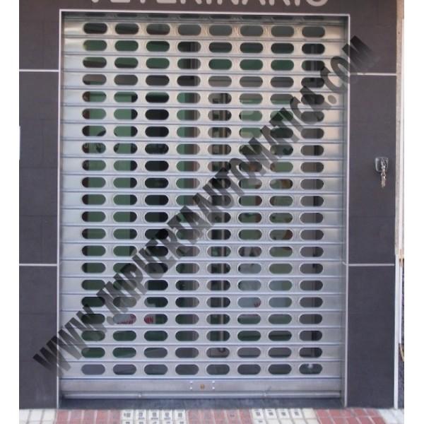 Persiana met lica enrollable puerta enrollable de hierro for Persiana metalica enrollable precio